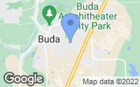 Map of Buda, TX